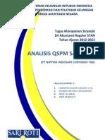 QSPM Analysis PT Sari Roti