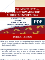 NEONATAL MORTALITY :A CHALLENGE TOWARDS THE ACHIEVEMENT OF MDG-4