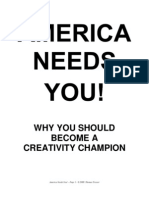 America Needs You! Why You Should Become a Creativity Champion (and run for local office)