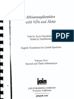 Abhisamayalamkara With Vrtti and Aloka (Vol.2)
