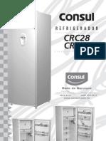 Manual Da Geladeira Consul Crc28_crp28_manual