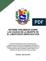 Informe Sobre Las Causas de La Muerte de El Libertador