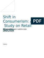 Shift in Consumerism a Study of Retail Sector