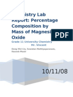 Chemistry11U - Magnesium Oxide Test