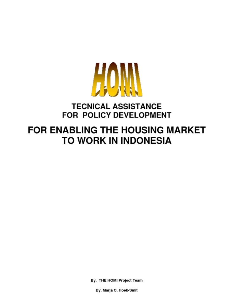Technical Asssistance For Policy Development Enabling The Simple Voucher Map 100k Langsung Kirim Housing Market To Work In Indonesia Homi Loans Mortgage Loan