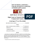 Hillcrest School Limited v Barclays Bank of Kenya Limited