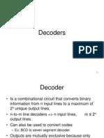 Decoders and Encoders