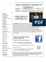 Romulus Chamber of Commerce July 2012 Newsletter