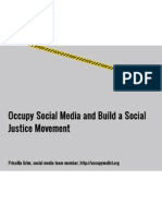 Occupy Social Media and Build a Social Justice Movement