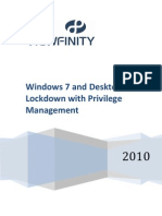 Viewfinity Windows 7 Desktop Lockdown and Privilege Management