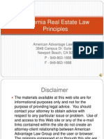 California Real Estate Law Principles