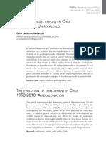 La Evolución del empleo en Chile 1990-2010 Un Recalculo