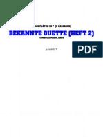 Blockfloete - Bodenmann-Hans - Flote-Bekannte-Duette-Heft2 (Noten Sheets Score Alto Recorder Alt