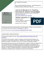 Teacher Education in Canada