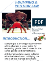 Anti-dumping & Competition Law