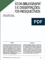 A Revisão da Bibliografia em Teses e Dissertações
