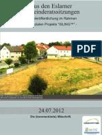 Aus den Eslarner Gemeinderatssitzungen, 24.07.2012