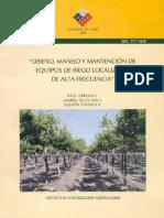 Diseno Manejo y Mantencion de Equipos de Riego Localizado de Alta Frecuencia