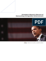 FAIR Report on Obama's Dismantling of Immigration Enforcement