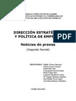 Noticias Prensa DEE 2 Semestre 2011-12 Con Enlaces