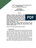 PENGARUH KEPRIBADIAN DAN DUKUNGAN ORGANISASI TERHADAP OCB-O DAN OCB-I DOSEN (STUDI PADA UNIVERSITAS PALANGKA RAYA)