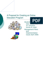 a proposal for creating an online education program 1 keep