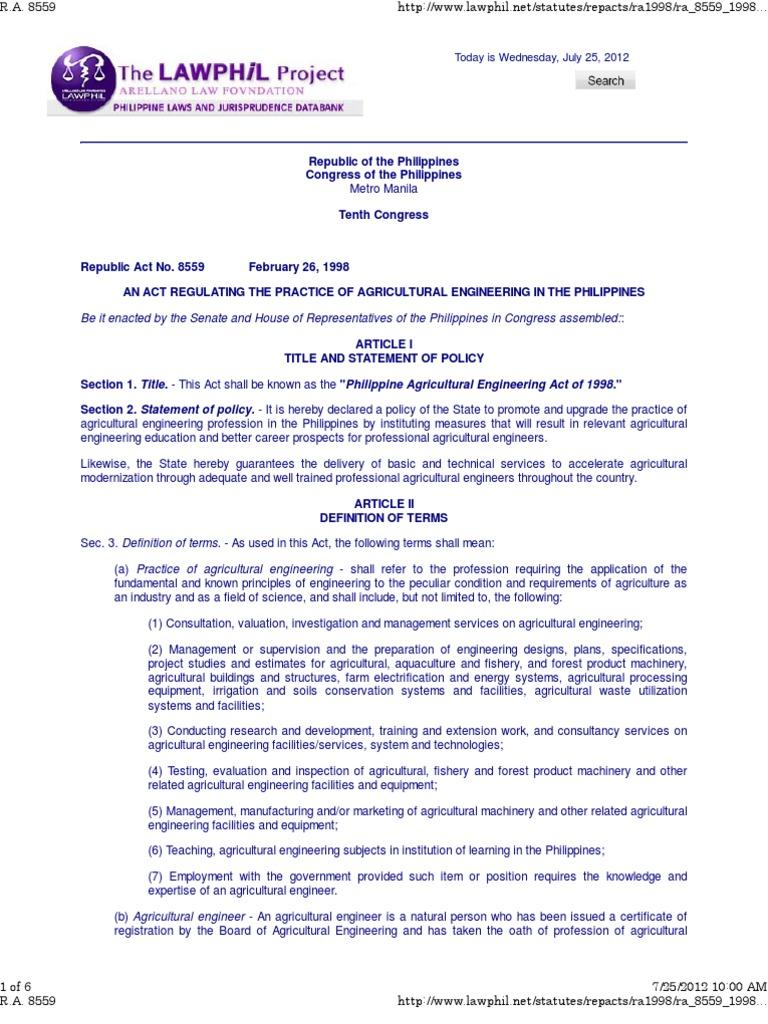 ra 8559 | licensure | engineer