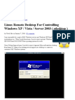 Linux Remote Desktop for Controlling Windows XP _ Vista _ Server 2003 ( Rdesktop )