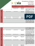 Recomendaciones 2013-1