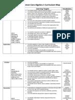 Plank Algebra 1 Curriculum Map