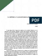 Domínguez Caparrós, José - La métrica y los estudios literarios