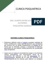 Historia Clinica Psiquiatrica, Entrevista Psiquiaqtrica