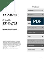TX-sr705 Manual e