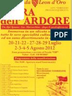 Sagra Dell'Ardore 2012 Volantino