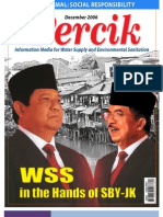 Water and Sanitation in the Hands of SBY and JK. PERCIK. Indonesia Water and Sanitation Magazine. December 2006.