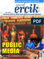 Public Media in Water and Sanitation. PERCIK. Indonesia Water and Sanitation Magazine. October 2008.