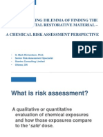 Mark Richardson PhD Risk Assessment of Two Dental Materials