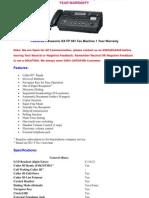 Panasonic Fax Machine
