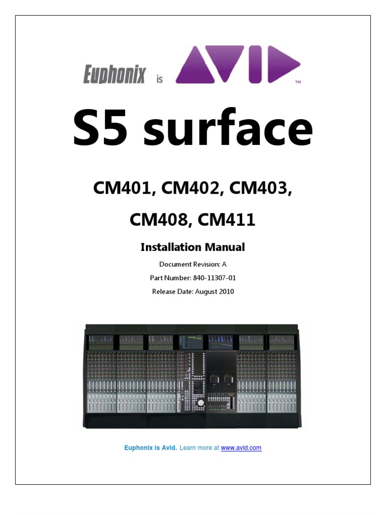 Installation Guide s5 Surface Modules | Electromagnetic Interference