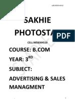 B.com Final Yr Advertising Nd Sales Mgt