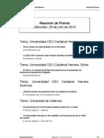 Resumen Prensa 25-07-12