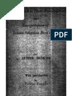 New Approach to Piano Transcriptions and Interpretation of Johann Sebastian Bach's Music (by Arthur Briskier)