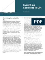 Everything Socialized is Dirt