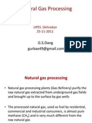 Natural Gas Processing Lecture | Natural Gas Processing