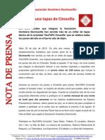 Nota de Prensa Las Mil y Una Tapas