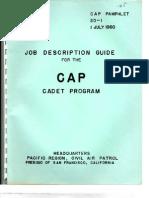 CAPP 20-1 Cadet Program - 07/01/1960