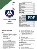 Cessna 172P Checklist