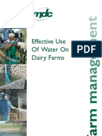 Effective Use of Water on Dairy Farms