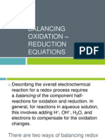 Balancing Oxidation – Reduction equations