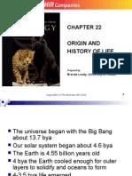 Origion and History of Life